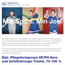 Dipl. Pflegefachperson HF/FH Herz- und Unfallchirurgie, (m/w/d) Triemli