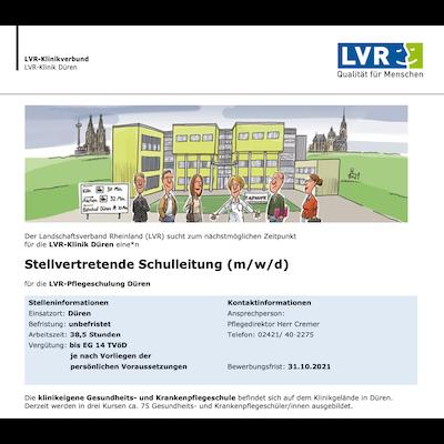 Stellvertretende Schulleitung (m/w/d) - LVR-Pflegeschulung
