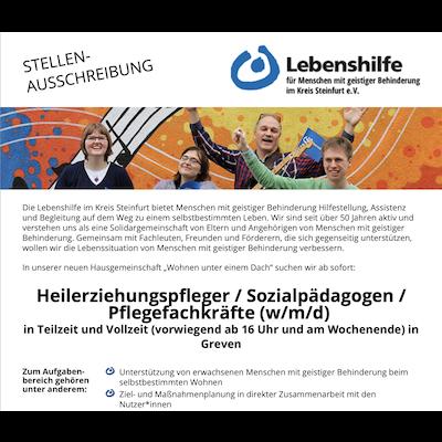 Lebenshilfe für Menschen mit geistiger Behinderung im Kreis Steinfurt e.V.