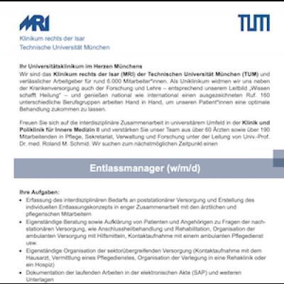 Entlassmanager (w/m/d)
