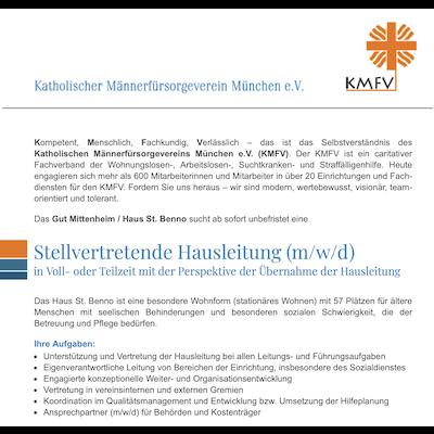 Stellvertretende Hausleitung (m/w/d)