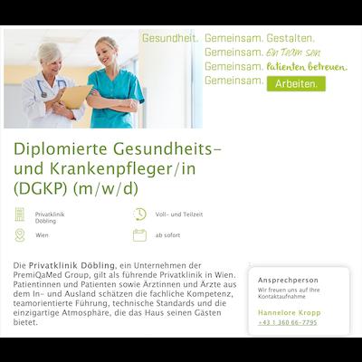 Diplomierte Gesundheits- und Krankenpfleger/in (DGKP) (m/w/d)